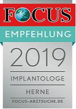 Focus Online Siegel: Implantologe Herne 2019