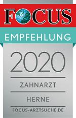 Focus Online Siegel: Zahnarzt Herne 2020